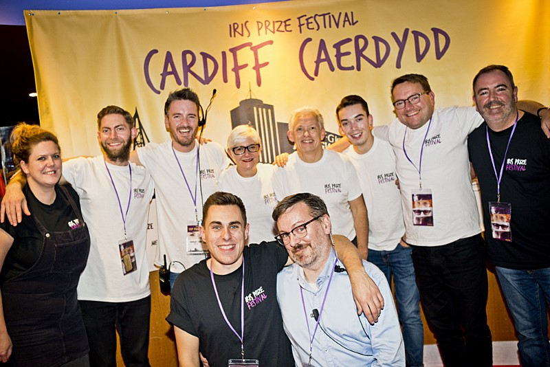 Volunteers at the Iris Prize film festival (image supplied)