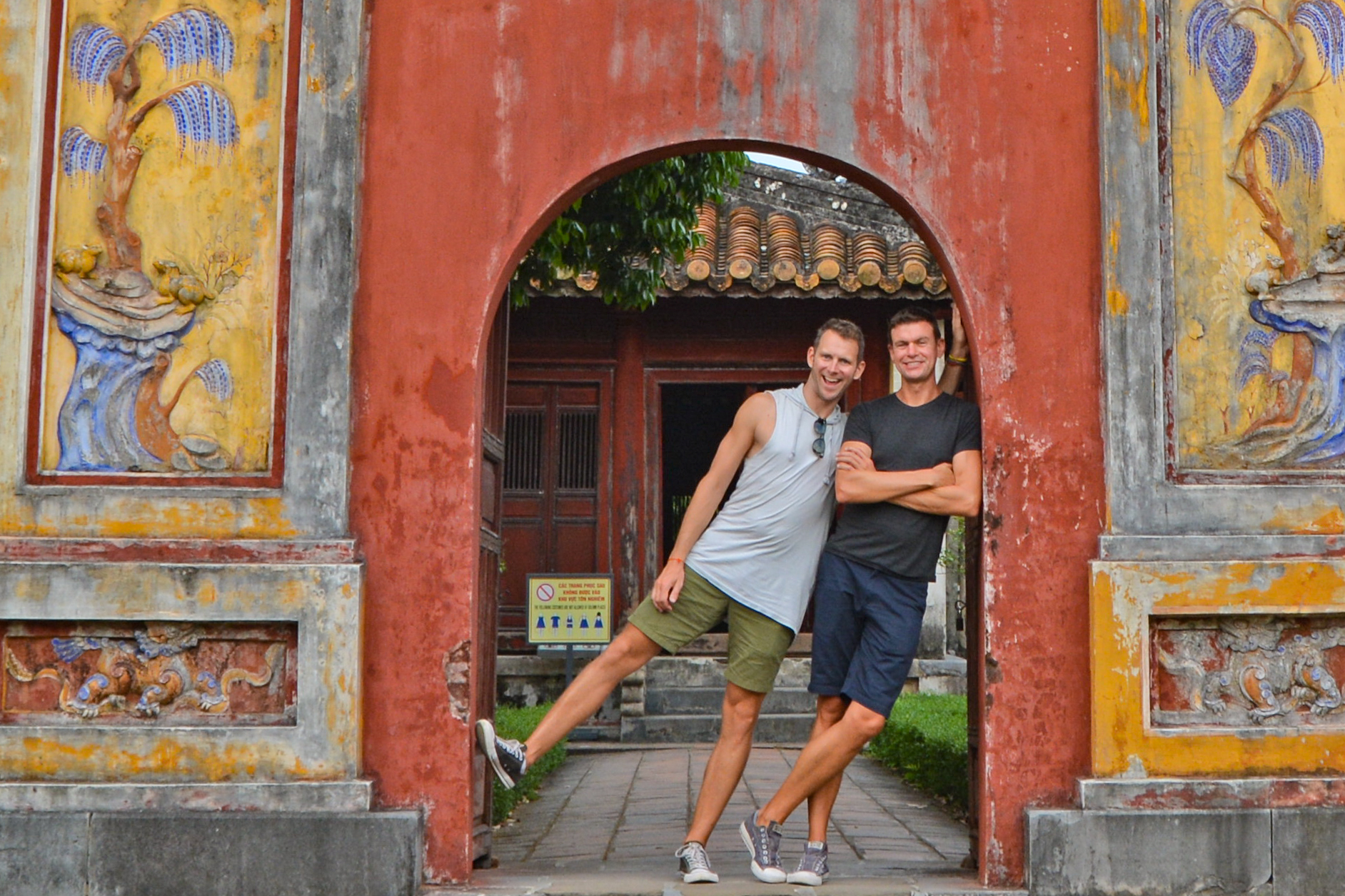John and Scott in Hue (image supplied)
