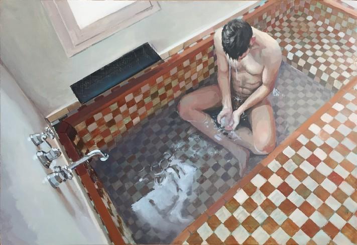 Hombre en la bañera by Jean Carlos Puerto (image supplied)