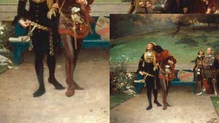 Edward II & Gaveston by Marcus Stone (image published via Wikipedia)