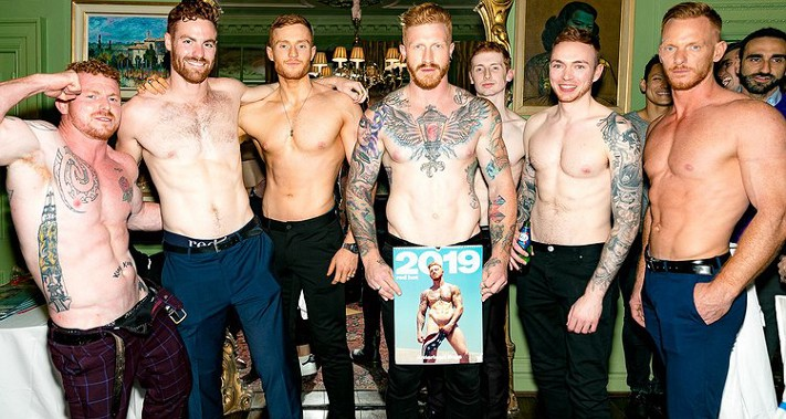 The boys of Red Hot at the London launch event (image supplied)