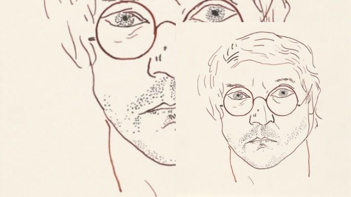 David Hockney, self portrait (image courtesy of the David Hockney Foundation)