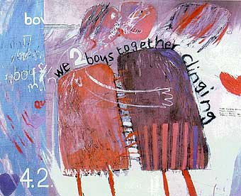 We Two Boys Together Clinging, by David Hockney (image published via Wikipedia)