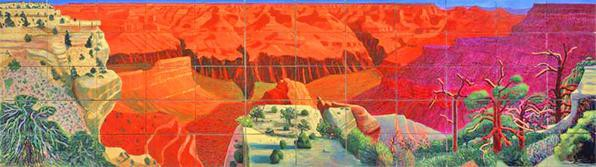 A Bigger Grand Canyon, by David Hockney (image published via Wikipedia)