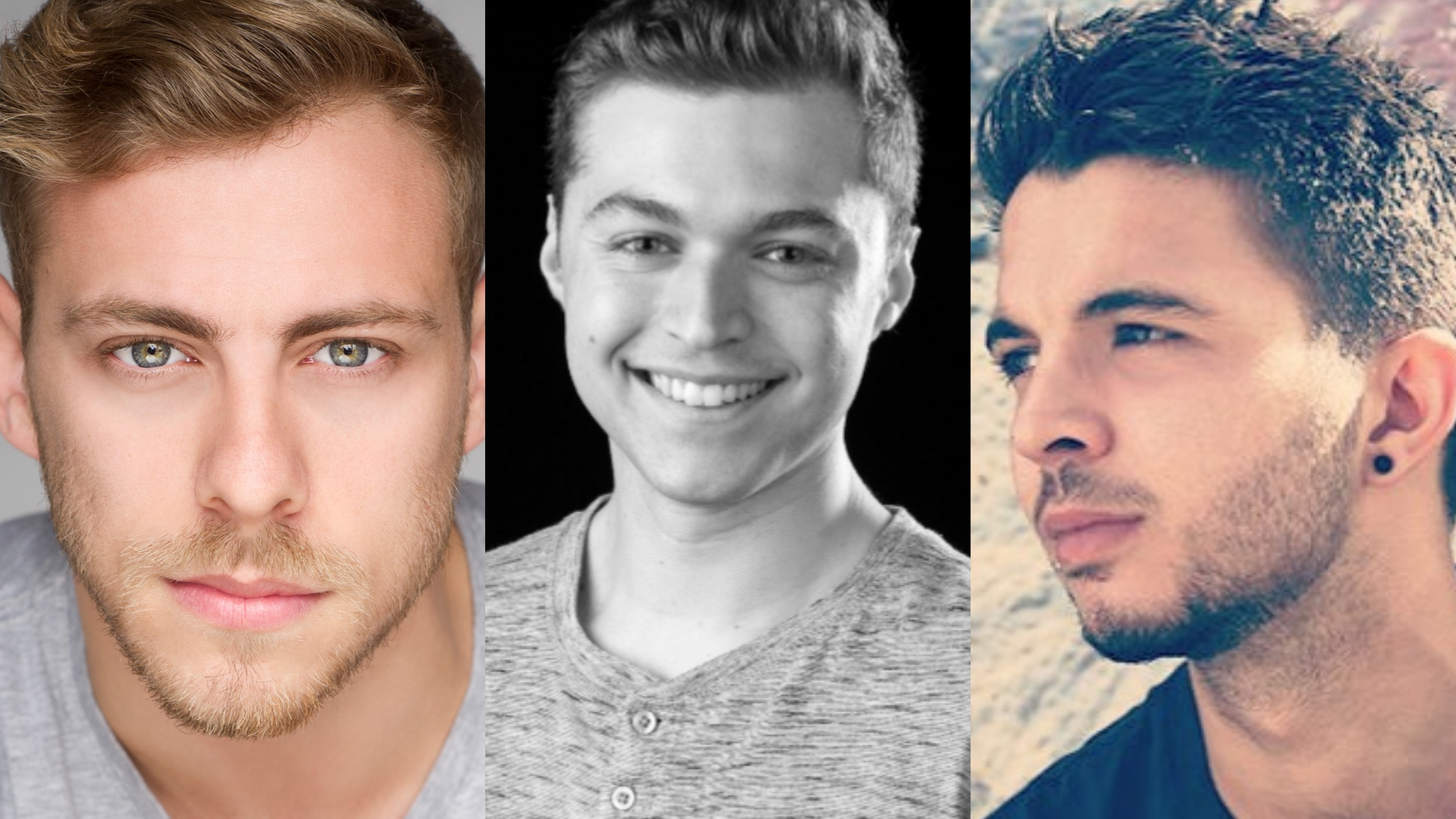 Sam Marks, Nathan Beech, and Nathaniel Hancock will be appearing in Dein Perry's Tap Dogs in London (image supplied)