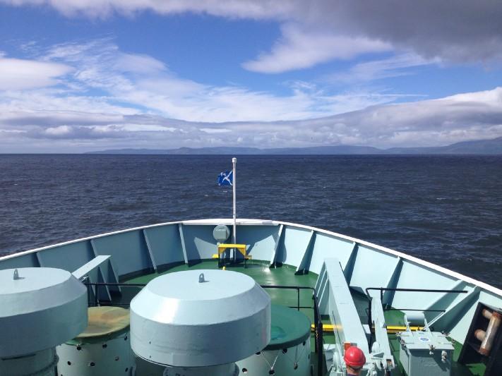 Approaching the Isle of Arran. Photo: Gareth Johnson.
