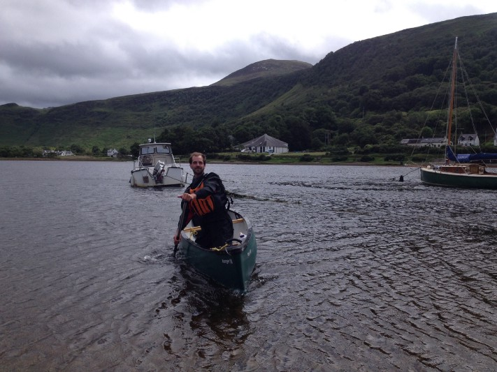 Sea-canoeing with Lochranza Field Study and Activity Centre. Photo: Gareth Johnson