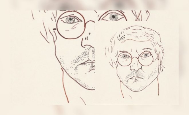 David Hockney, self portrait (image courtesy of the David Hockney Foundation)