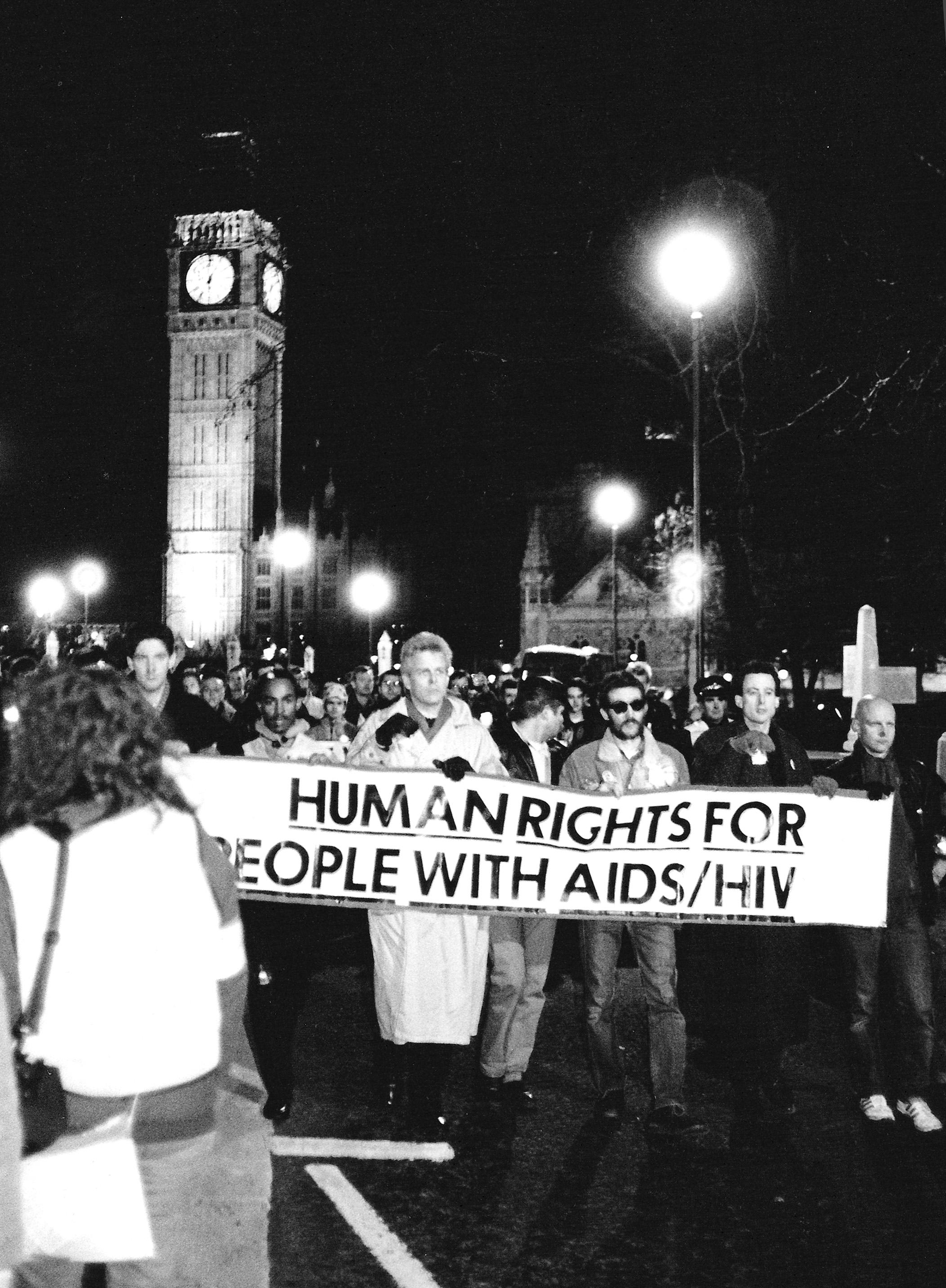 AIDS vigil, 1988 (image courtesy of Peter Tatchell)