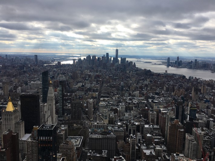A view of New York City from the Empire State Building. Photo: Gareth Johnson