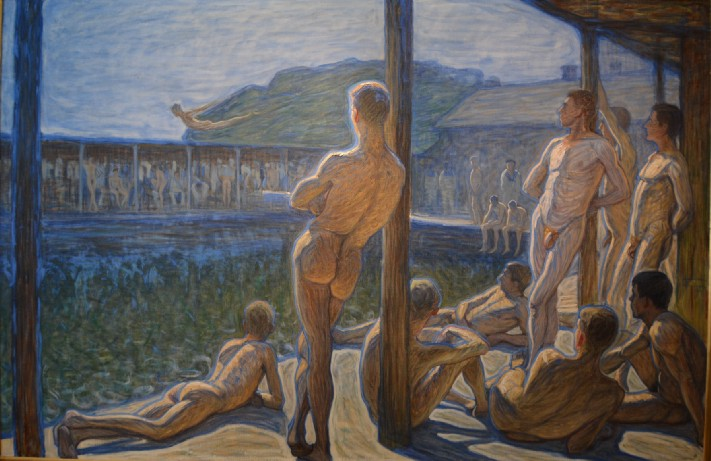 A painting by Eugène Jansson, image courtesy of The Thiel Gallery